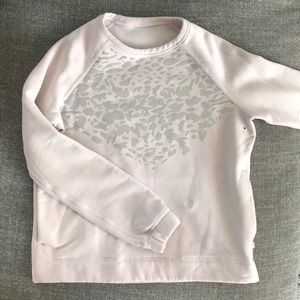 Lululemon Sweatshirt - Blush Pink with Cheetah